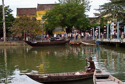 Thu Bon River separating Hoi An and An Hoi Island