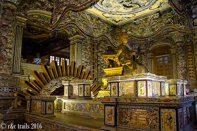ornate tomb of Khai Dinh