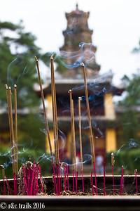 incense at the Thien Mu Pagoda