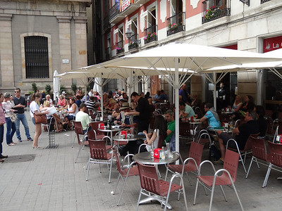 We stopped here both days for a Cappuccino . Down near the waterfront at the bottom of La Rambla.