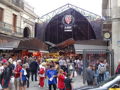 The market off La Rambla.
