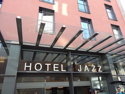 Hotel Jazz located just off La Rambla
