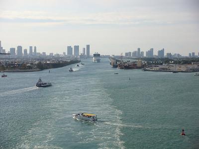 Sailing Down Government Cut In Miami