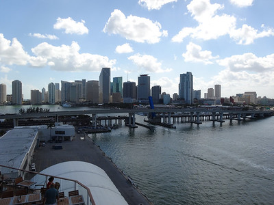 Miami taken from the aft Sunset Bar