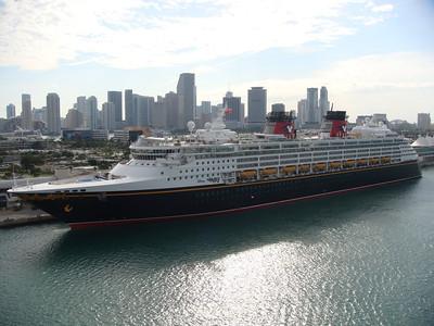 Disney Wonder Docked In Miami