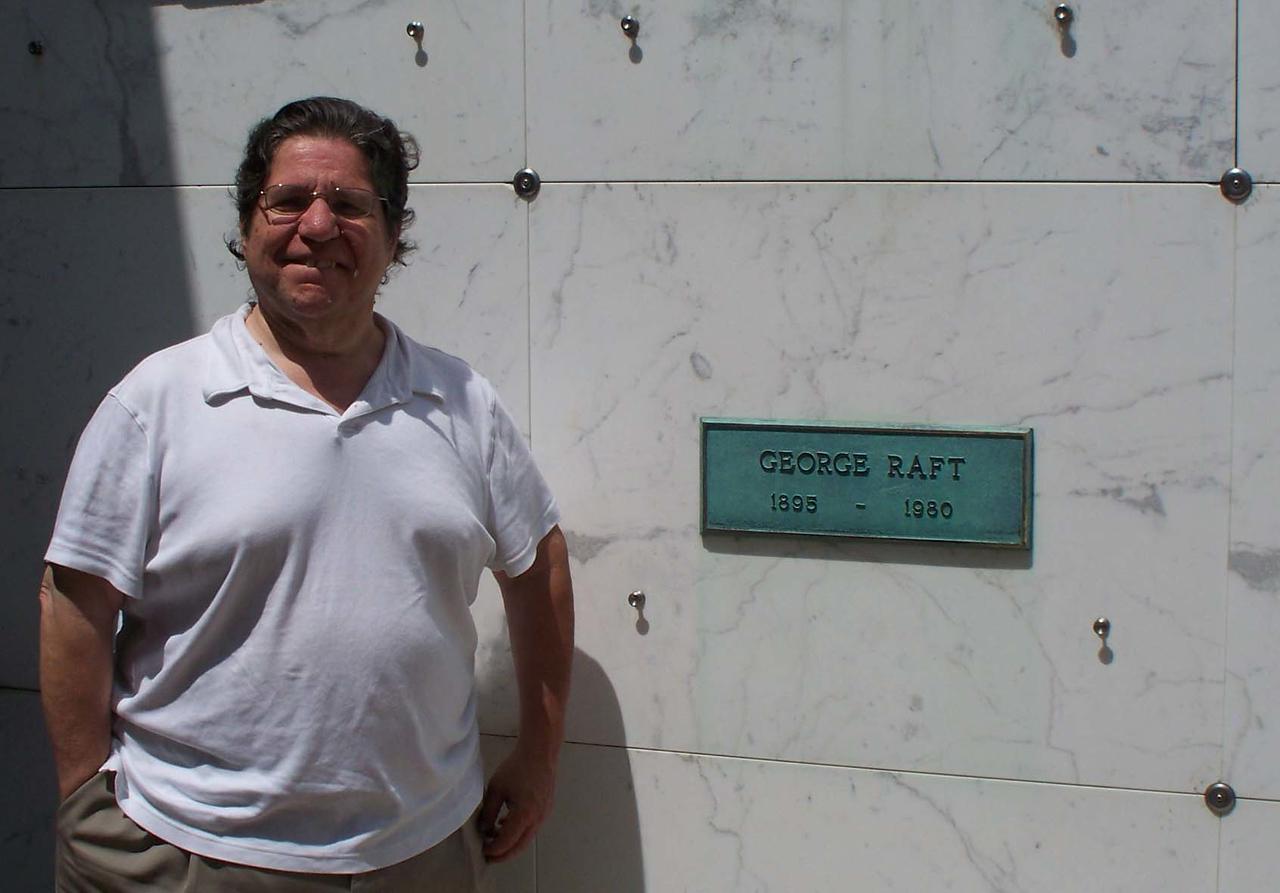 Mickey at George Raft's Tomb