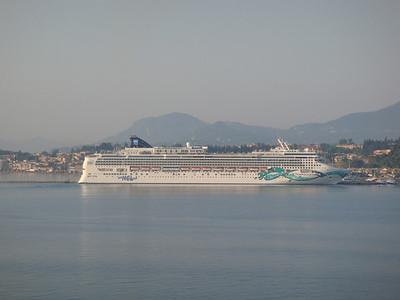Norwegian Jade docked in Corfu, Greece
