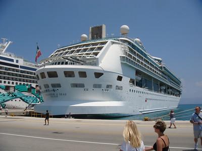 Splendour of the Seas docked in Corfu