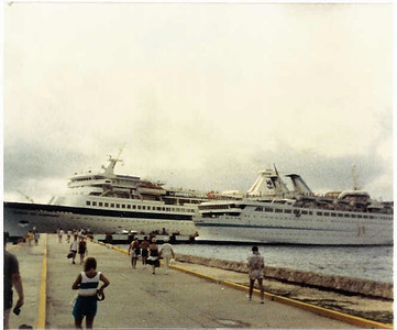 Song of Norway and Starward docked in Cozumel Mexico