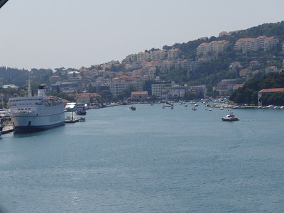 Sailing into Dubrovnik, Croatia