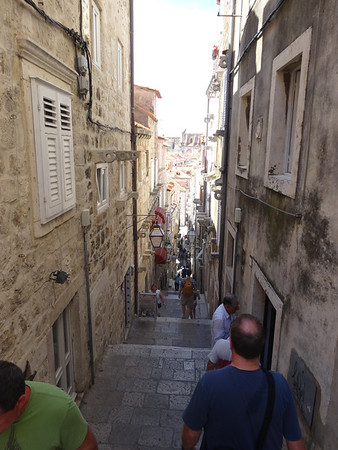 Entering the walls of the Old Town of Dubrovnik