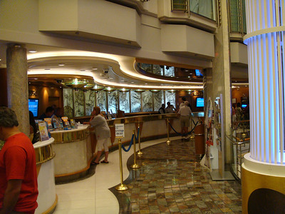 Guest Relations located aft on the Royal Promenade
