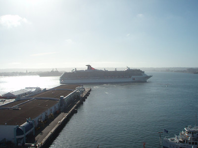 Carnival Spirit leaving San Diego
