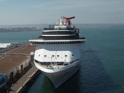 Carnival Spirt docked in San Diego