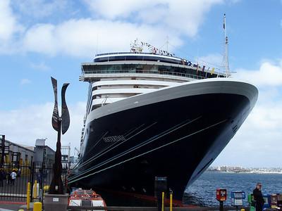 HAL Oosterdam docked in San Diego