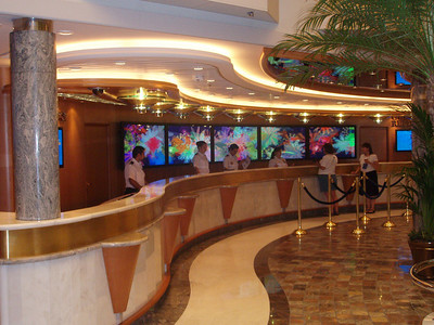 Guest Relations Desk on the Royal Promenade Aft