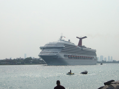 Carnival Valor departing Miami