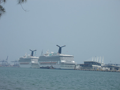Two Carnival Ships in Miami