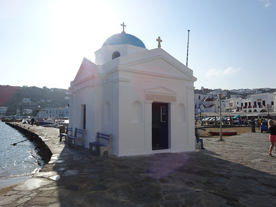 Small church at the entrance to the port