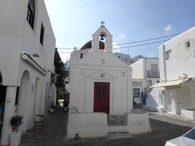 Santorini, Greece - There are many churches on this island.