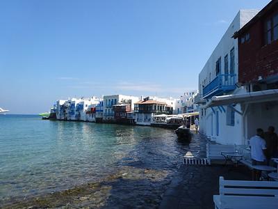 Little Venice in Santorini, Greece