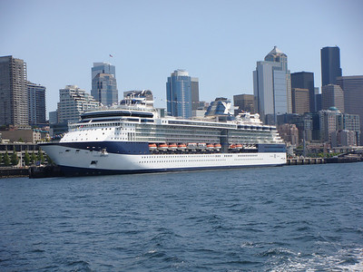 Seattle and Celebrity Infinity taken from Argosy Tours.