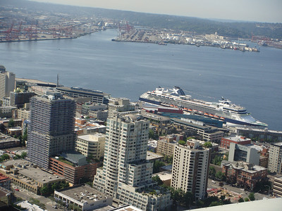 Celebrity Infinity docked in Seattle. Taken from Space Needle