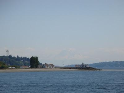 Leaving Seattle on ship