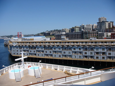 Norwegian Star. Day of cruise. Our stateroom overlooked the bow of the ship. Perfect location for an Alaskan cruise.