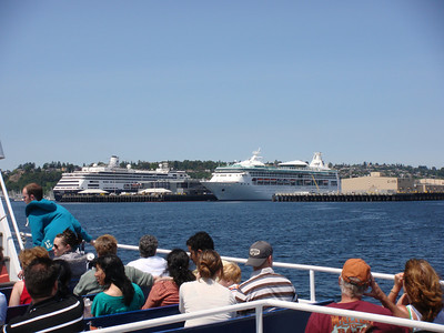 RCI and Holland America docked at Seattle
