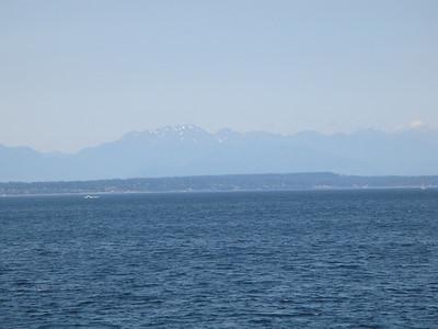 Leaving Seattle on ship.
