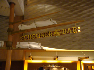 Schooner Bar located above the Royal Promenade