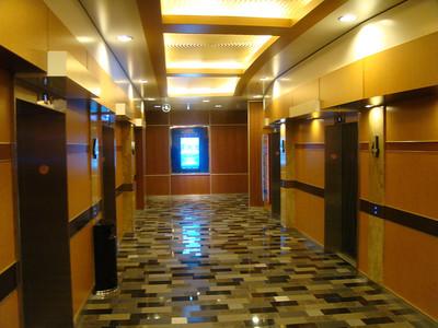 Nice large elevator areas on board