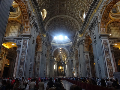 St. Peter's Basilica at the Vatican. Beautiful.