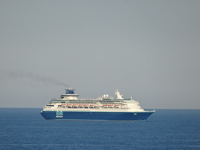 Sovereign entering port. Former Royal Caribbean Sovereign of the Seas