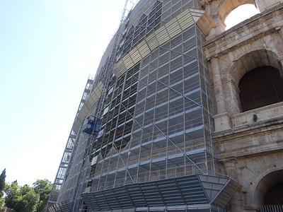 Restoration in progress of Rome Colosseum