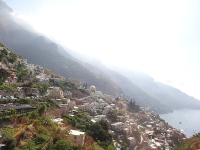 Positano, Italy coming into view. One of the most beautiful places in the world.