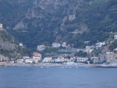 Cruising along the Italian coast on the way to Salerno, Italy
