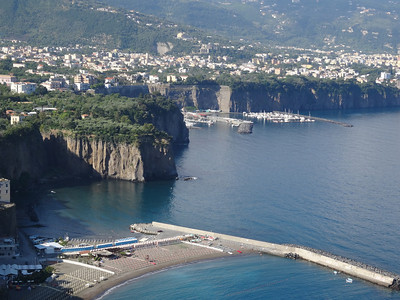 Driving along the Amalfi Coast to Positano, Italy
