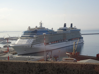 Celebrity Equinox docked in Salerno, Italy