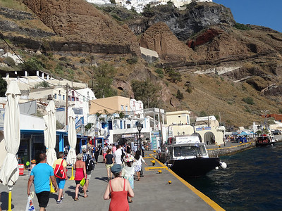 Old Port in Fira Santorini