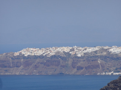 Oia, Santorini in the background