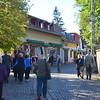 our tourist group descends on Szentendre