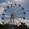 this is an old historic ferris wheel saved from something or other brought downtown for Christmastime