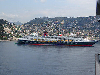 Disney Magic as we arrive in Villefranche, France