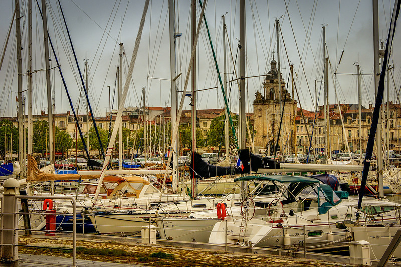 A harbour in La Rochelle, France