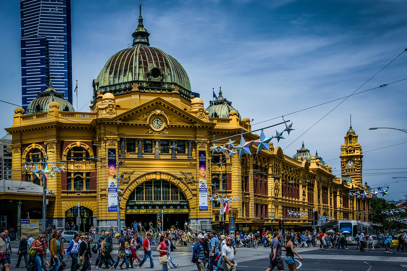 Flinders Street Train Station in Melbourne