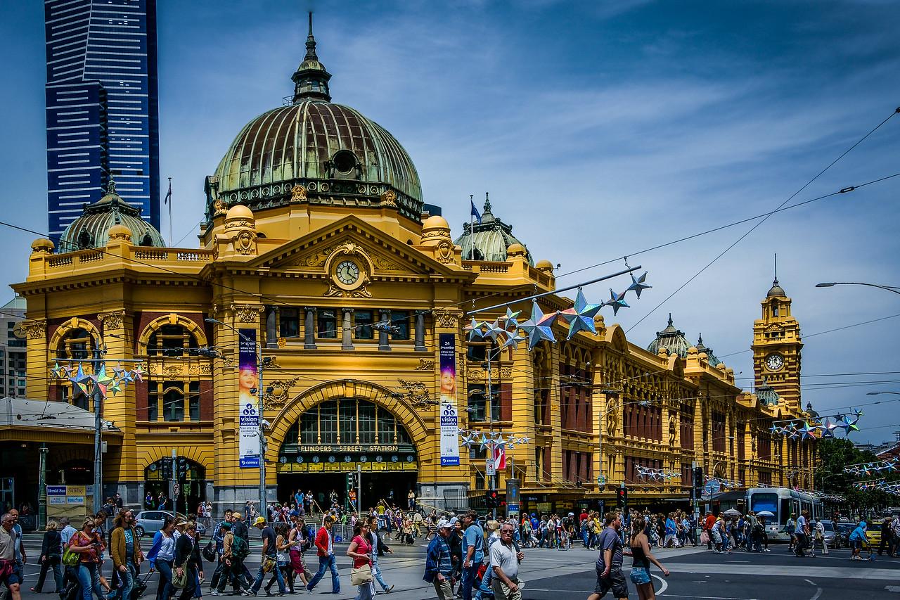 Flinders Street Train Station in Melbourne