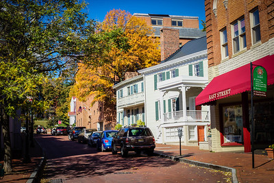 Downtown Annapolis, Maryland, in the fall