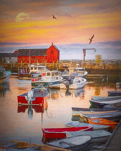 Rockport Harbor / Illustrative